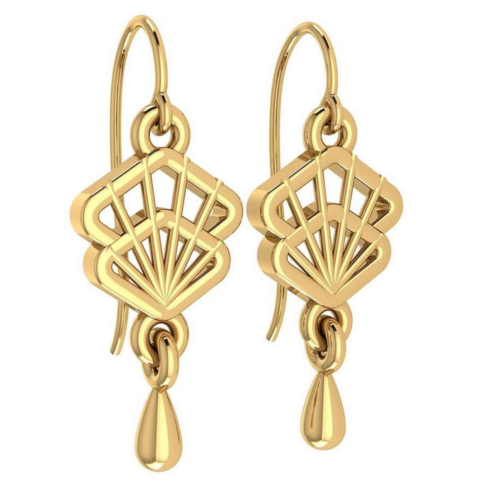 Gold Wire Hook Earrings 18k Yellow Gold MADE IN ITALY #PAPPS21237