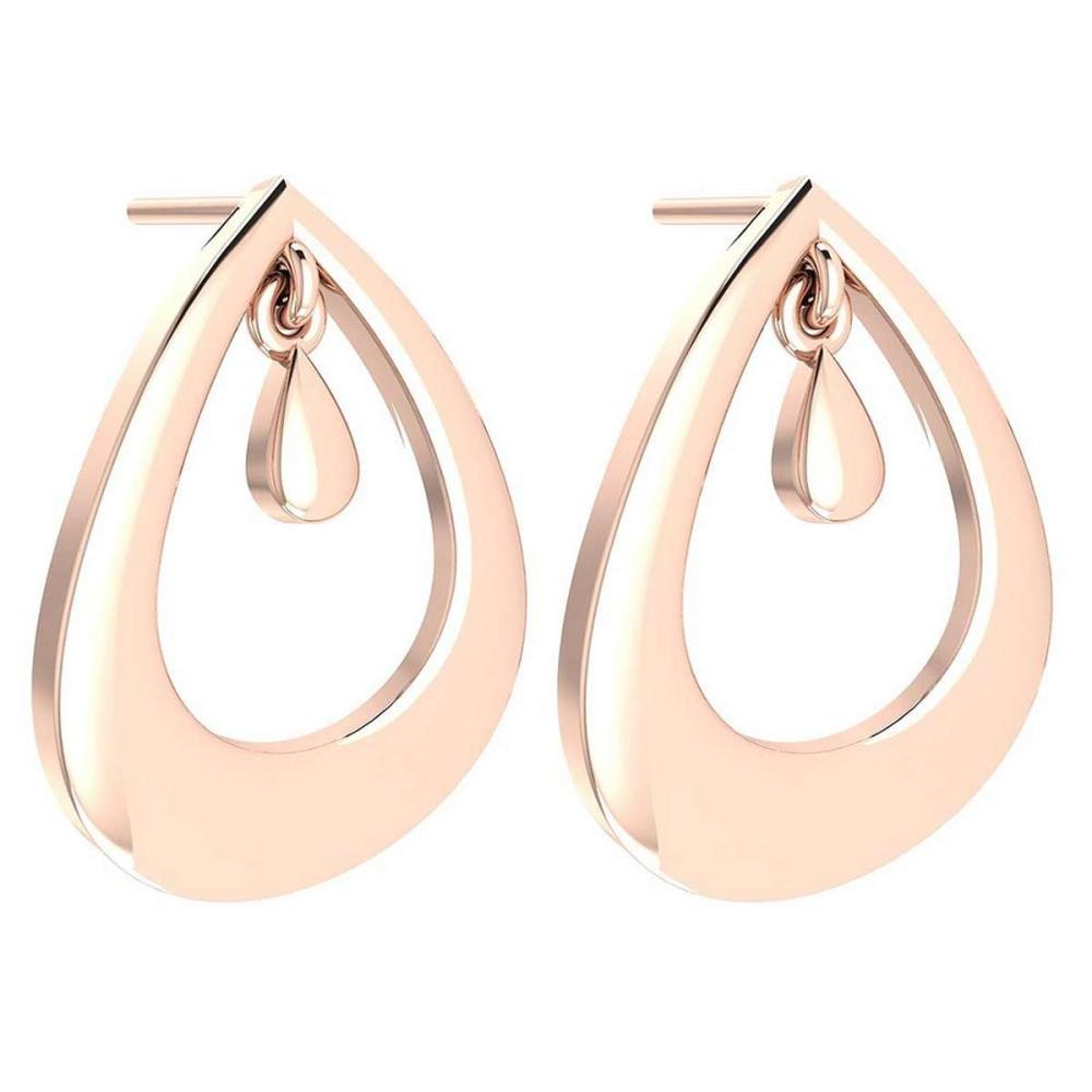 Gold MADE IN ITALY Styles Stud Earrings For beautiful ladies 14k Rose Gold MADE IN ITALY #PAPPS20267