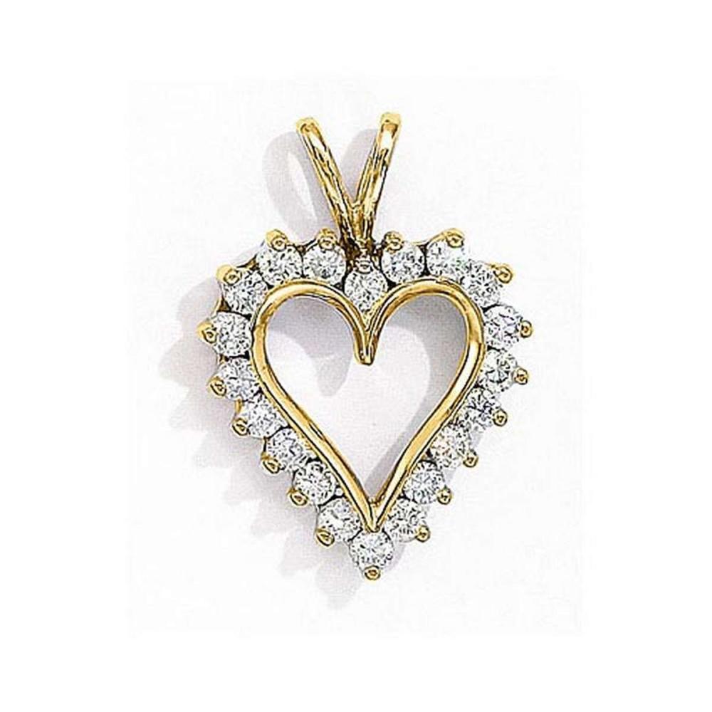 Certified 14K Yellow Gold Diamond Heart Pendant 1.25 CTW #PAPPS27684