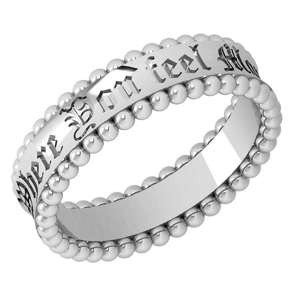 Gold MADE IN ITALY filigree Bands For beautiful ladies 14k White Gold MADE IN ITALY #PAPPS20298