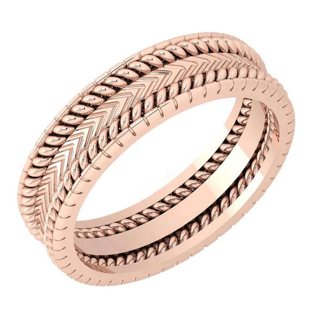 Stunning Filigree Engagement Band 18K Rose Gold MADE IN ITALY #PAPPS21277