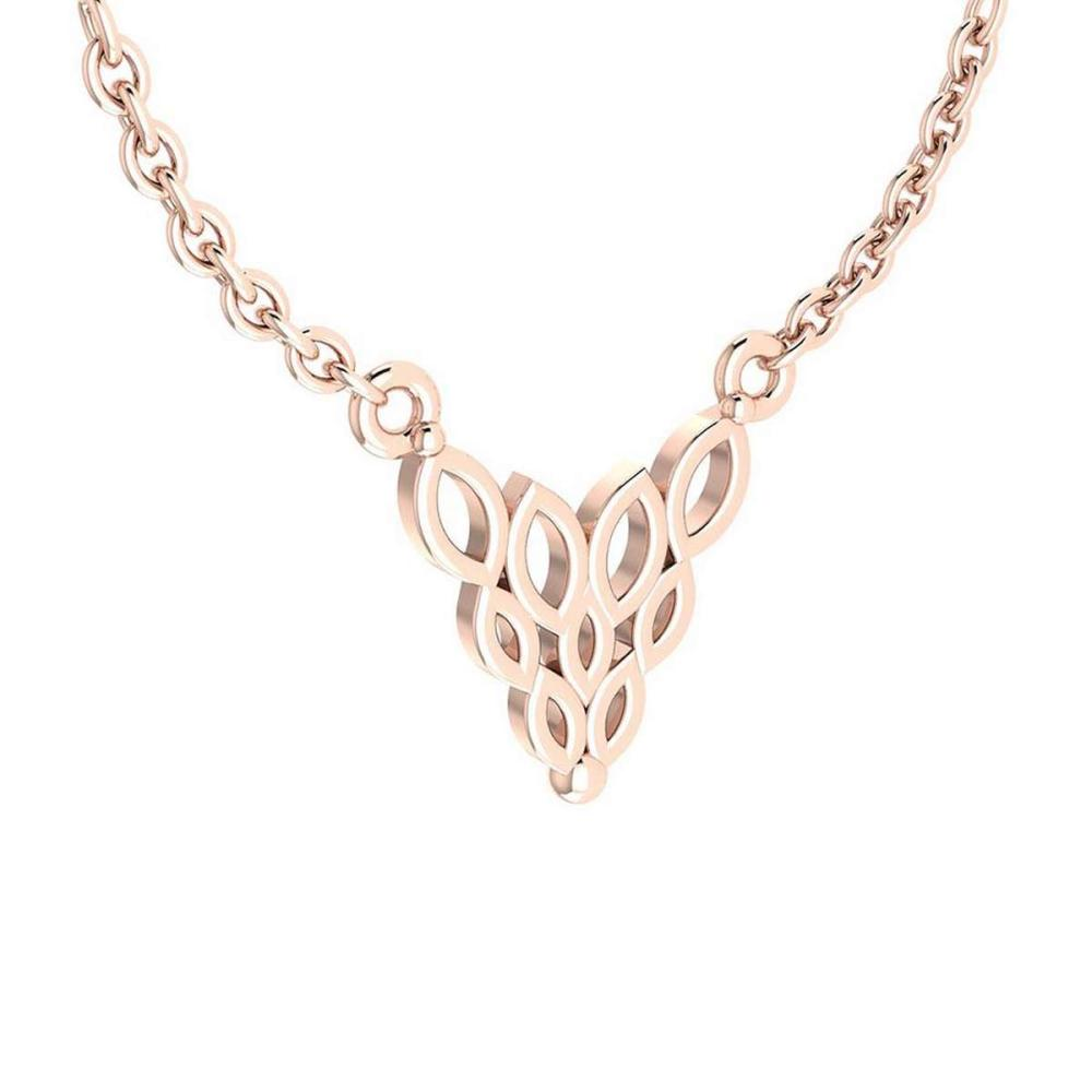 Gold Styles Leaf Necklace 18K Rose Gold MADE IN ITALY #PAPPS21265