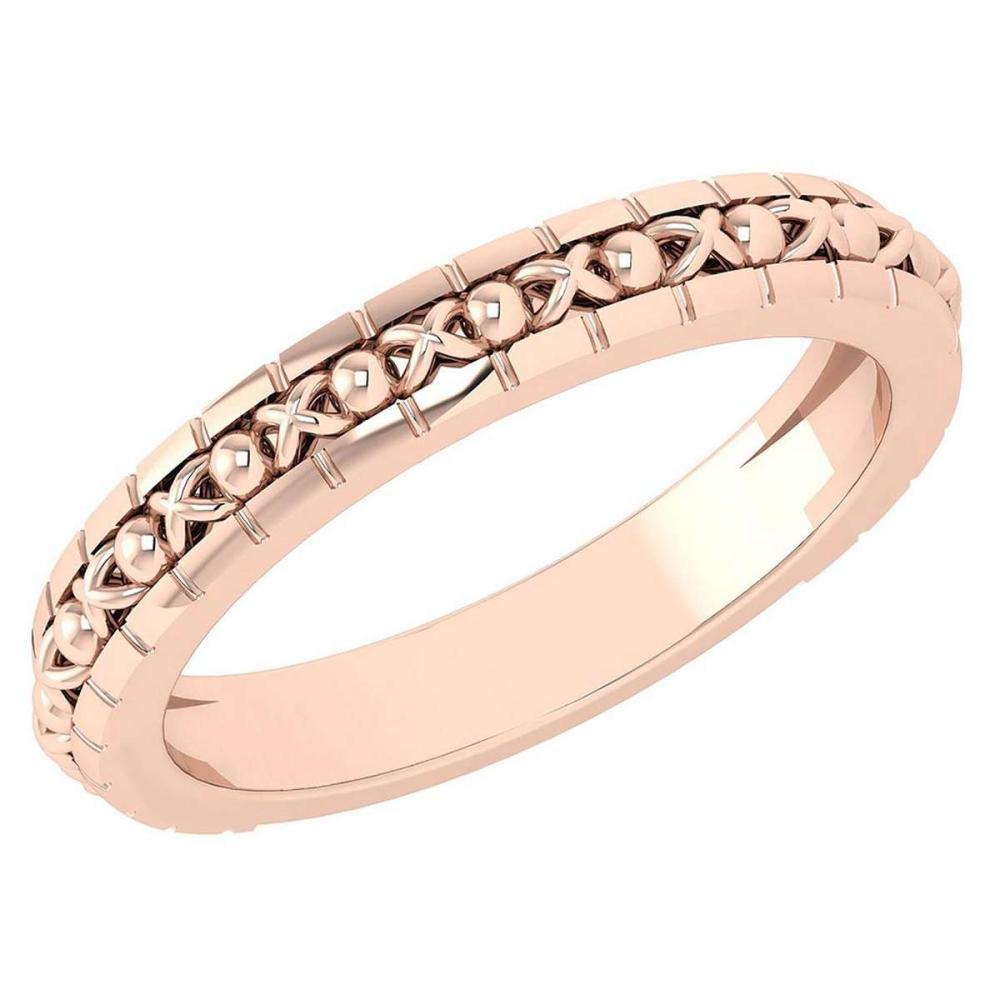Gold MADE IN ITALY filigree Bands For beautiful ladies 14k Rose Gold MADE IN ITALY #PAPPS20288