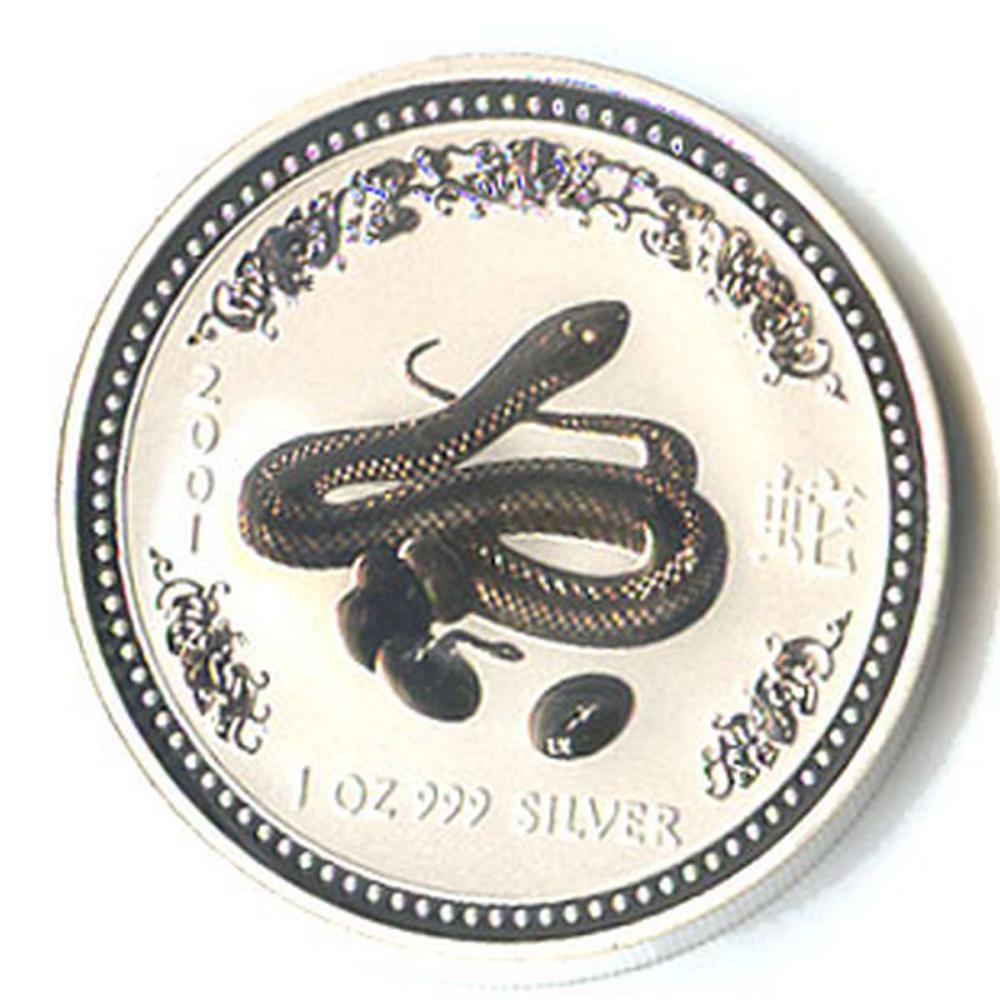 2001 Australia 1 oz Silver Lunar Snake #PAPPS81348