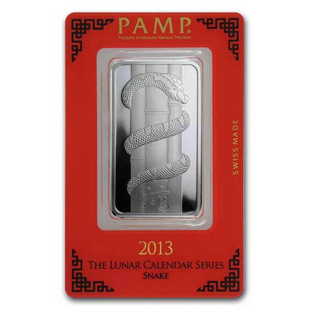 PAMP Suisse Silver Bar 1 oz - 2013 Snake Design #PAPPS78894