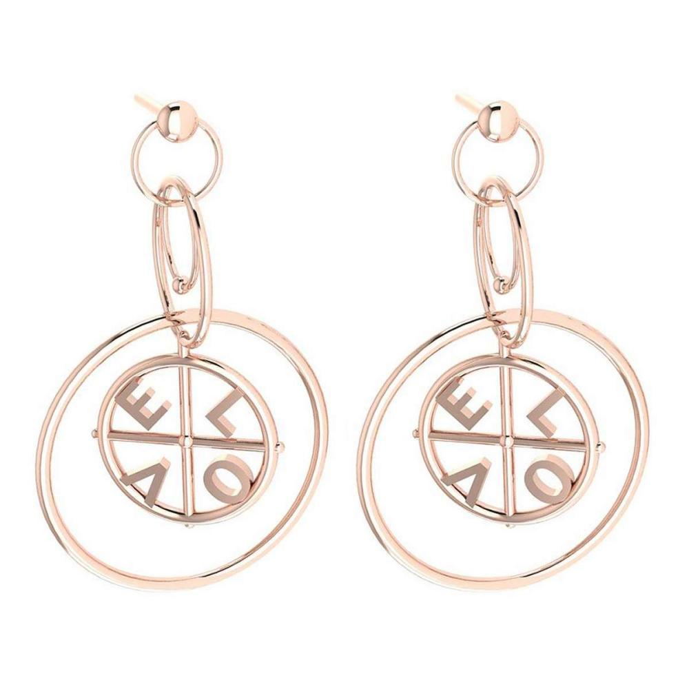 Gold MADE IN ITALY Styles Stud Earrings For beautiful ladies 14k Rose Gold MADE IN ITALY #PAPPS20261