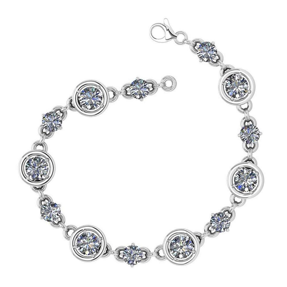 Certified 2.61 Ctw Diamond Bracelet 18K White Gold Made In USA #PAPPS21753