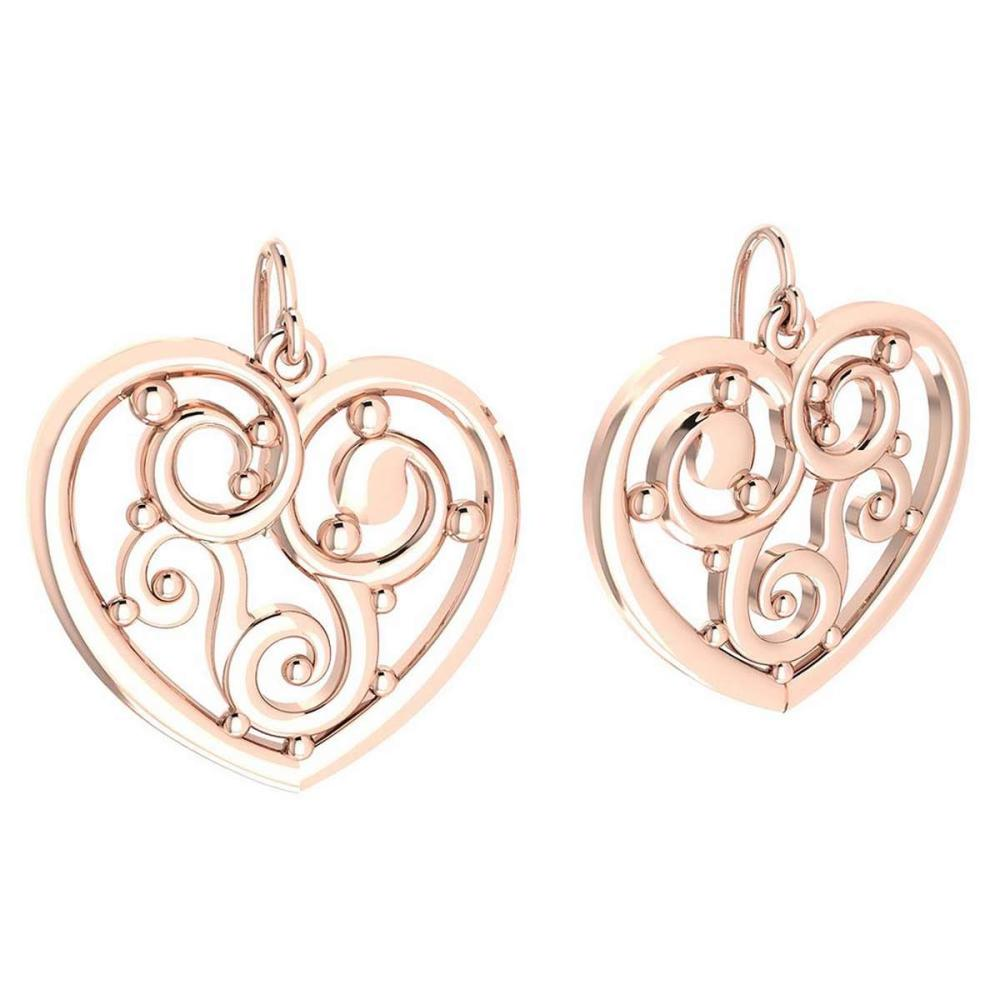 Gold Heart Shape Stud Earrings 18k Rose Gold MADE IN ITALY #PAPPS21259