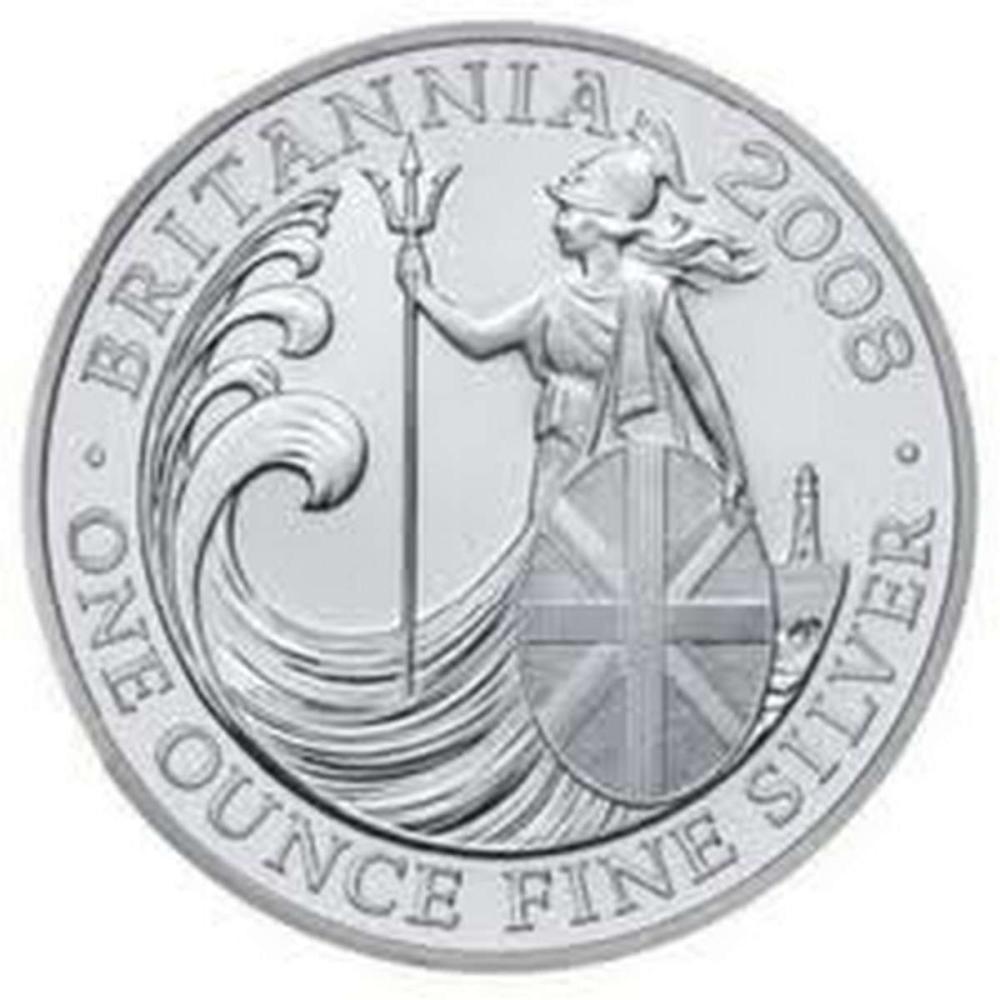 Uncirculated Silver Britannia 1 oz 2008 #PAPPS81359