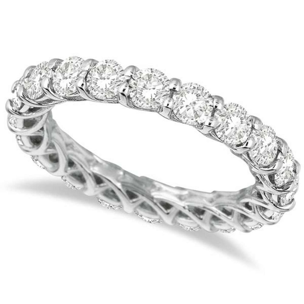 Luxury Diamond Eternity Band Anniversary Ring 14k White Gold (3.00ct) #PAPPS20928