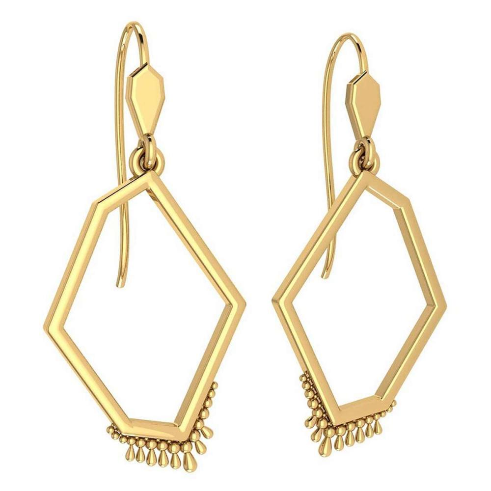 Gold Wire Hook Earrings 18k Yellow Gold MADE IN ITALY #PAPPS21234