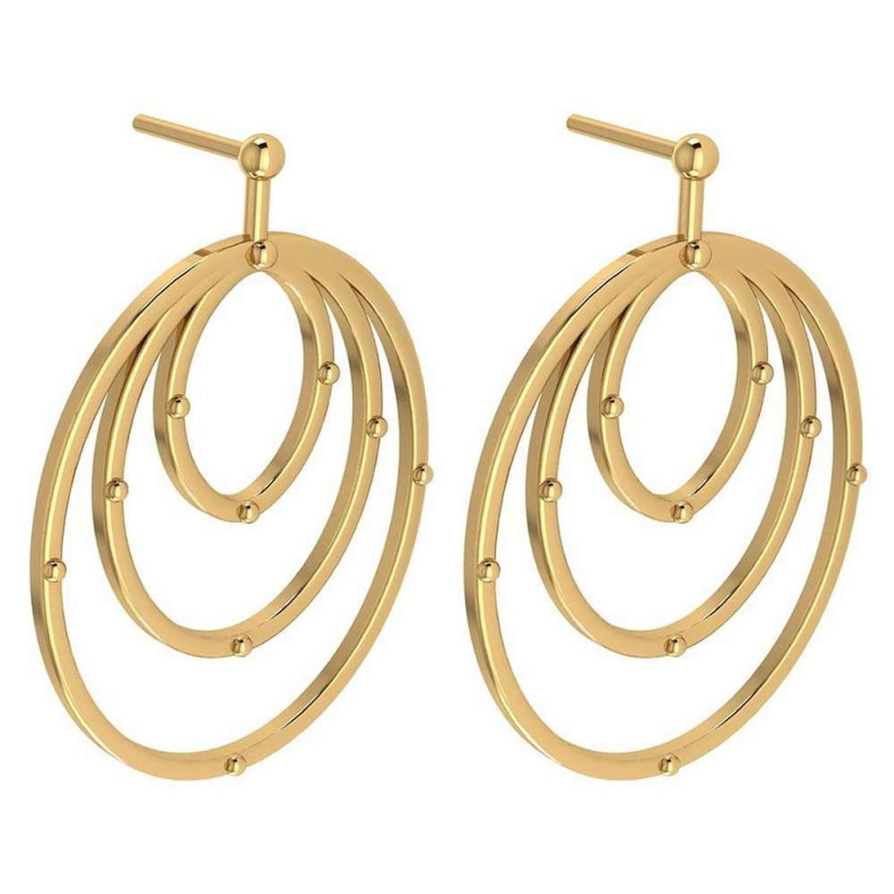 Gold MADE IN ITALY Styles Hangning Stud Earrings For beautiful ladies 14k Yellow Gold MADE IN ITALY #PAPPS20272