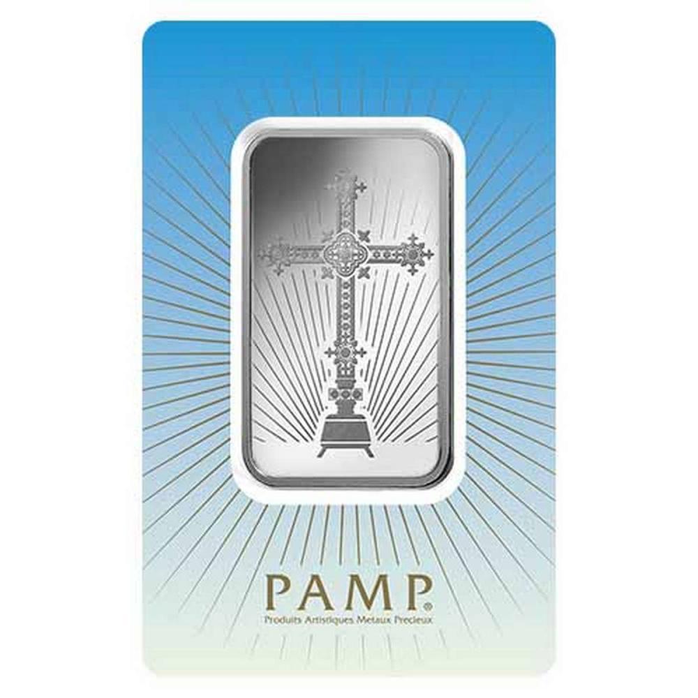 PAMP Suisse Silver Bar 1 oz - Romanesque Cross #PAPPS78892