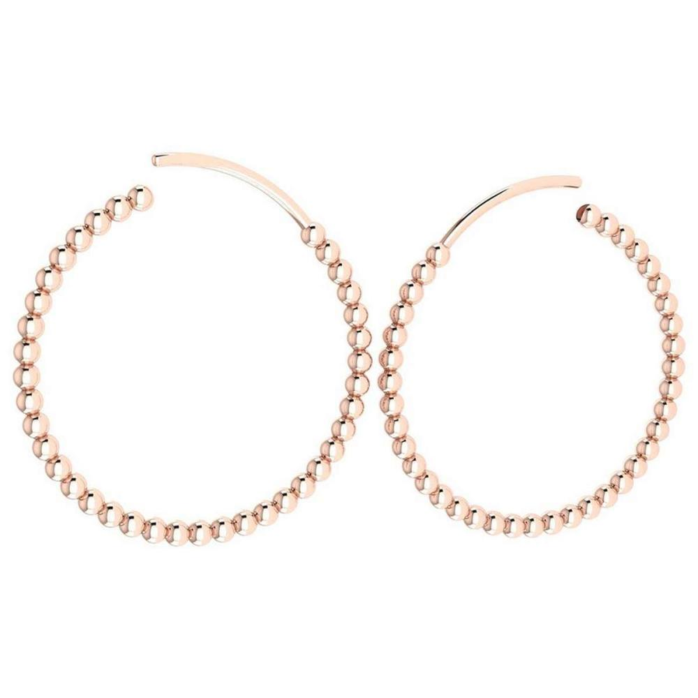Gold Hoop Earrings 18k Rose Gold MADE IN ITALY #PAPPS21232