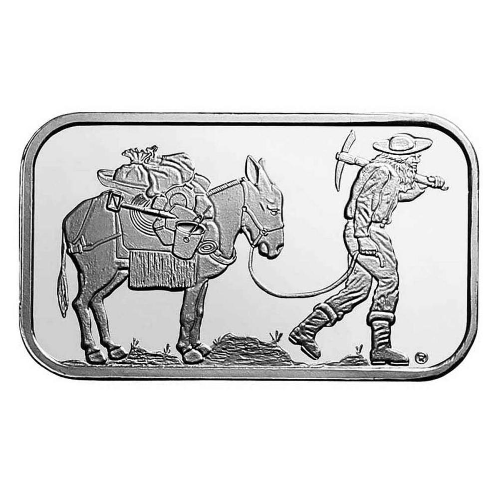 SilverTowne 1 oz Silver Bar - Retro Prospector Design #PAPPS78881