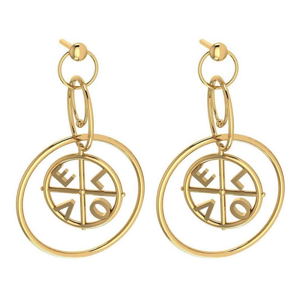 Gold MADE IN ITALY Styles Stud Earrings For beautiful ladies 14k Yellow Gold MADE IN ITALY #PAPPS20260