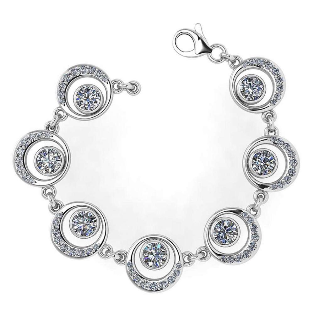 Certified 4.07 Ctw Diamond Bracelet VS/SI2 18K White Gold Made In USA #PAPPS21747