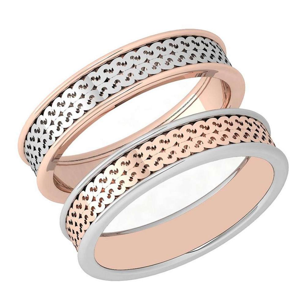 Gold Bands 18K White And Rose Gold MADE IN ITALY #PAPPS21290