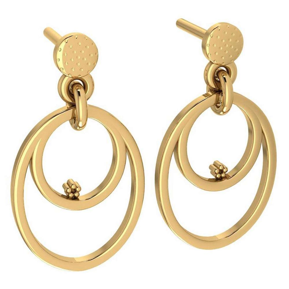 Gold MADE IN ITALY Styles Hangning Stud Earrings For beautiful ladies 14k Yellow Gold MADE IN ITALY #PAPPS20263