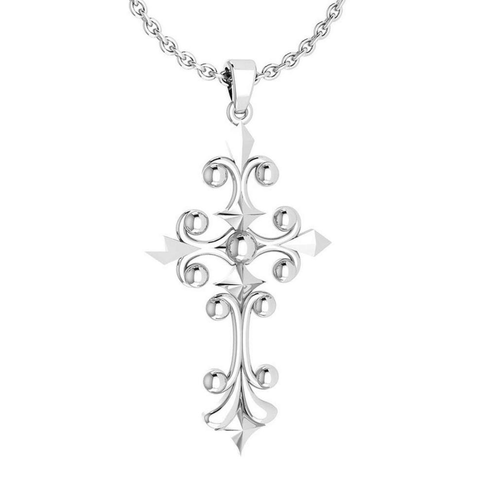 Holy Cross Special Gold Neckalce 18K White Gold MADE IN ITALY #PAPPS21218