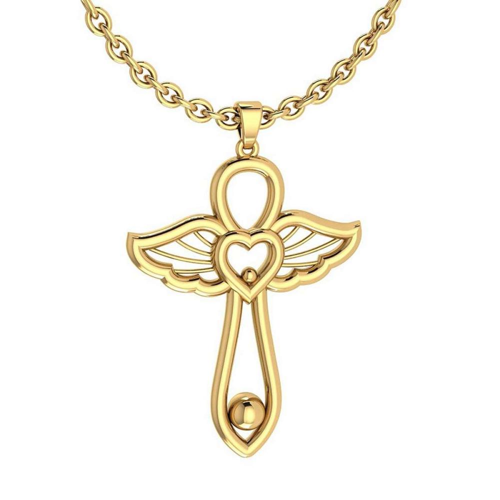 Holy Cross Special Gold Neckalce 18K Yellow Gold MADE IN ITALY #PAPPS21210