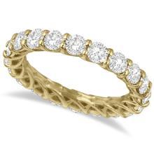 Luxury Diamond Eternity Anniversary Ring Band 14k Yellow Gold (3.50ct) #20552v3