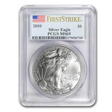 2010 Silver American Eagle MS-69 PCGS (First Strike) #74926v3