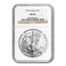2015 Silver American Eagle MS-69 NGC #74932v3