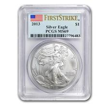 2013 Silver American Eagle MS-69 PCGS (First Strike) #74922v3