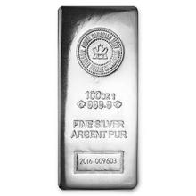 100 oz Silver Bar - RCM (.9999 Fine, Pressed Finish) #PAPPS74648