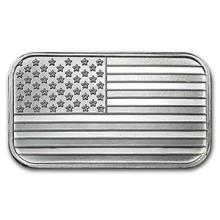 1 oz Silver Bar - American Flag Design #PAPPS74610