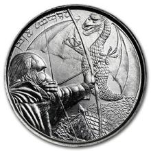 1 oz Silver Round - The Hobbit: The Daler of New Dale #PAPPS74603