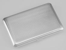 Fine Italian Made Business Card Case w/ Push Button Closure - Sterling Silver #PAPPS97981