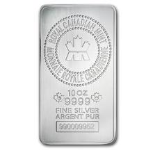 10 oz Silver Bar - RCM (.9999 Fine, New Style) #PAPPS74615
