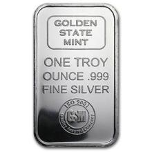 1 oz Silver Bar - Golden State Mint (ISO) #PAPPS74633