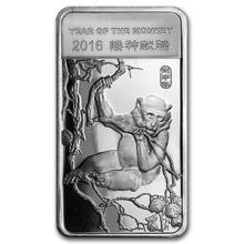 1/2 oz Silver Bar - (2016 Year of the Monkey) #PAPPS74629