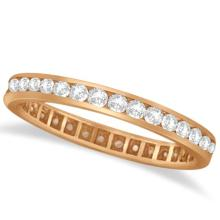 Channel Set Diamond Eternity Ring Band 14k Rose Gold (pink) (1.00 ct) #PAPPS20484