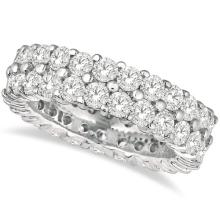 Two-Row Wide Band Diamond Eternity Ring 18k White Gold (2.50ct) #PAPPS20594