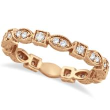 Antique Style Diamond Eternity Ring Band in 14k Rose Gold (0.36ct) #PAPPS20683