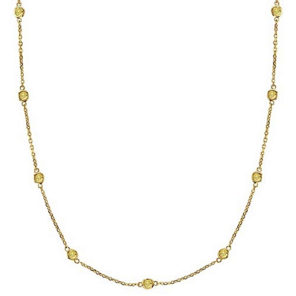 Fancy Yellow Canary Diamonds by The Yard Necklace 14k Gold (1.00ct) #PAPPS52941