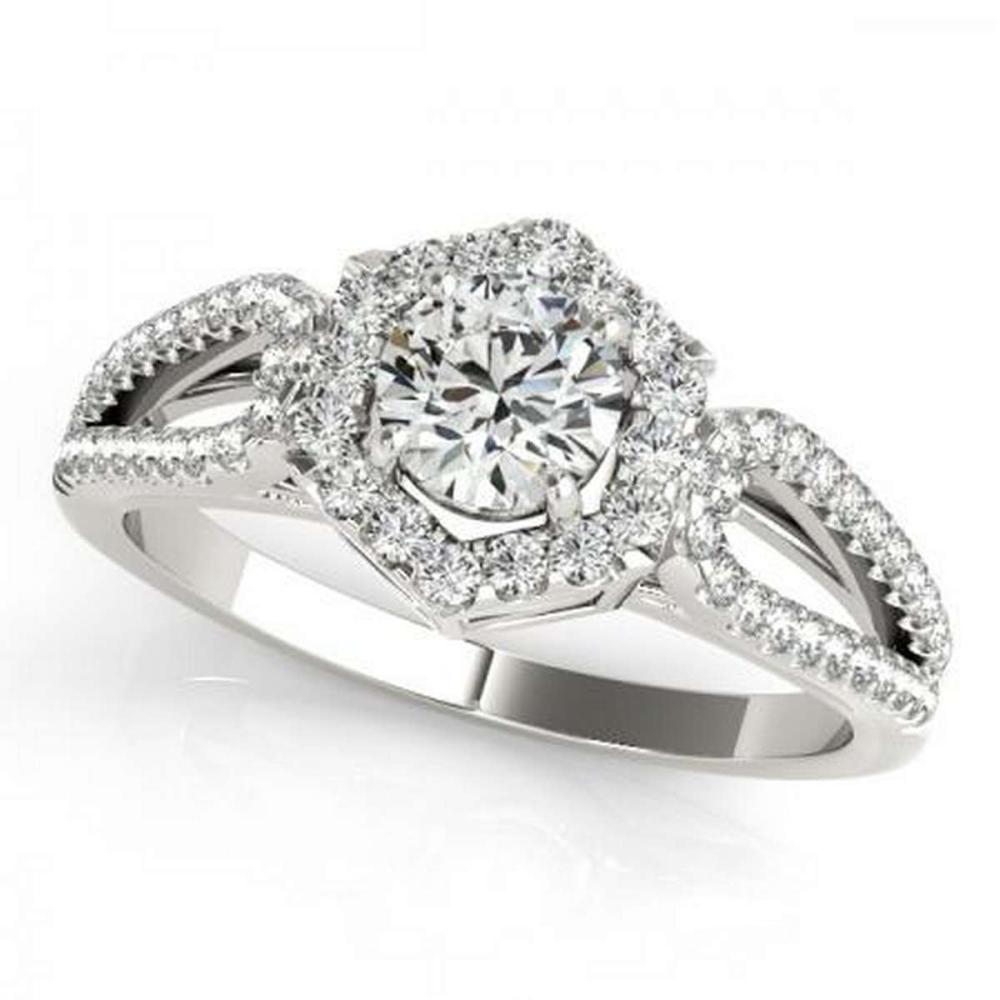CERTIFIED PLATINUM 1.38 CTW G-H/VS-SI1 DIAMOND HALO ENGAGEMENT RING #PAPPS86228