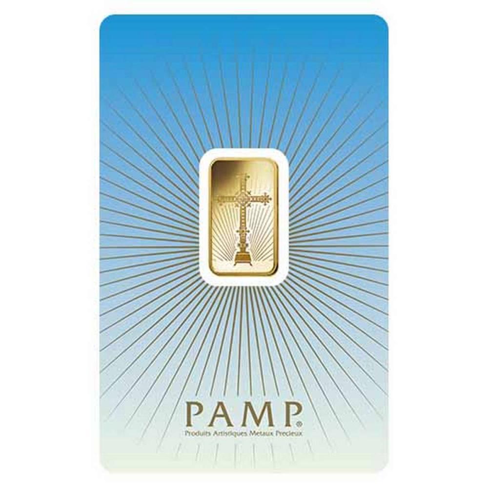 PAMP Suisse 5 Gram Gold Bar - Romanesque Cross #PAPPS77864