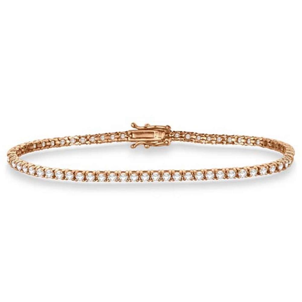 Eternity Diamond Tennis Bracelet 14k Rose Gold (3.51ct) #PAPPS53913