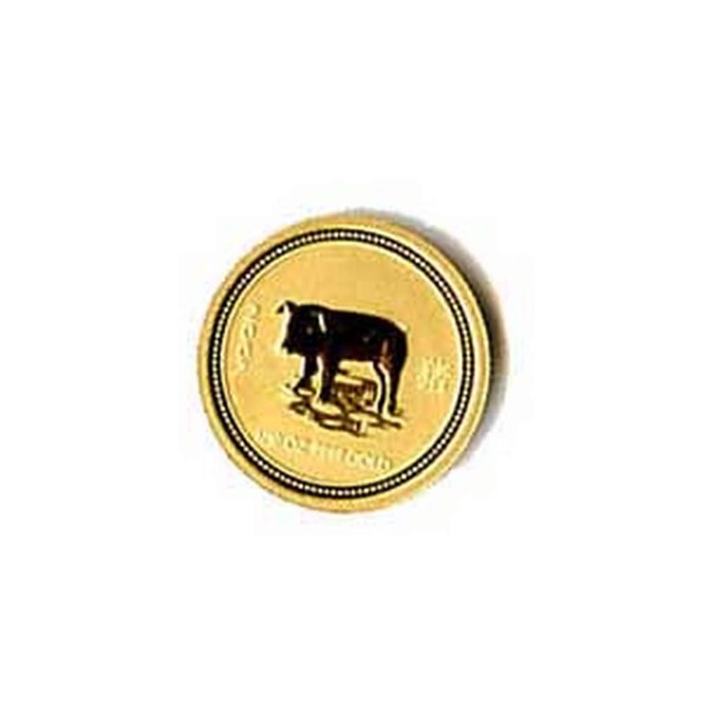 2007 Australia 1/10 oz Gold Lunar Pig #PAPPS78471