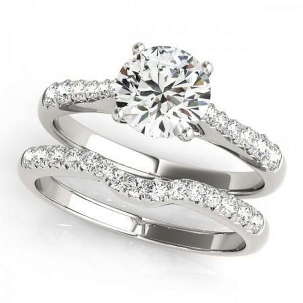 CERTIFIED 18KT WHITE GOLD 1.17 CTW G-H/VS-SI1 DIAMOND BRIDAL SET  #PAPPS86746