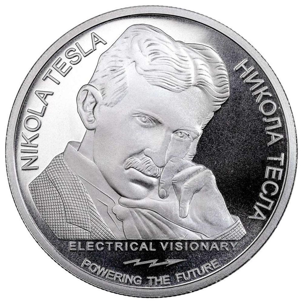 2018 Republic of Serbia 1 oz Silver 100 Dinar Nikola Tesla #PAPPS58073