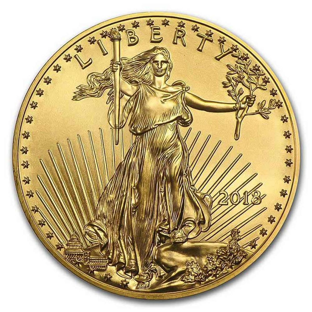 2018 American Gold Eagle 1 oz Uncirculated #PAPPS77928