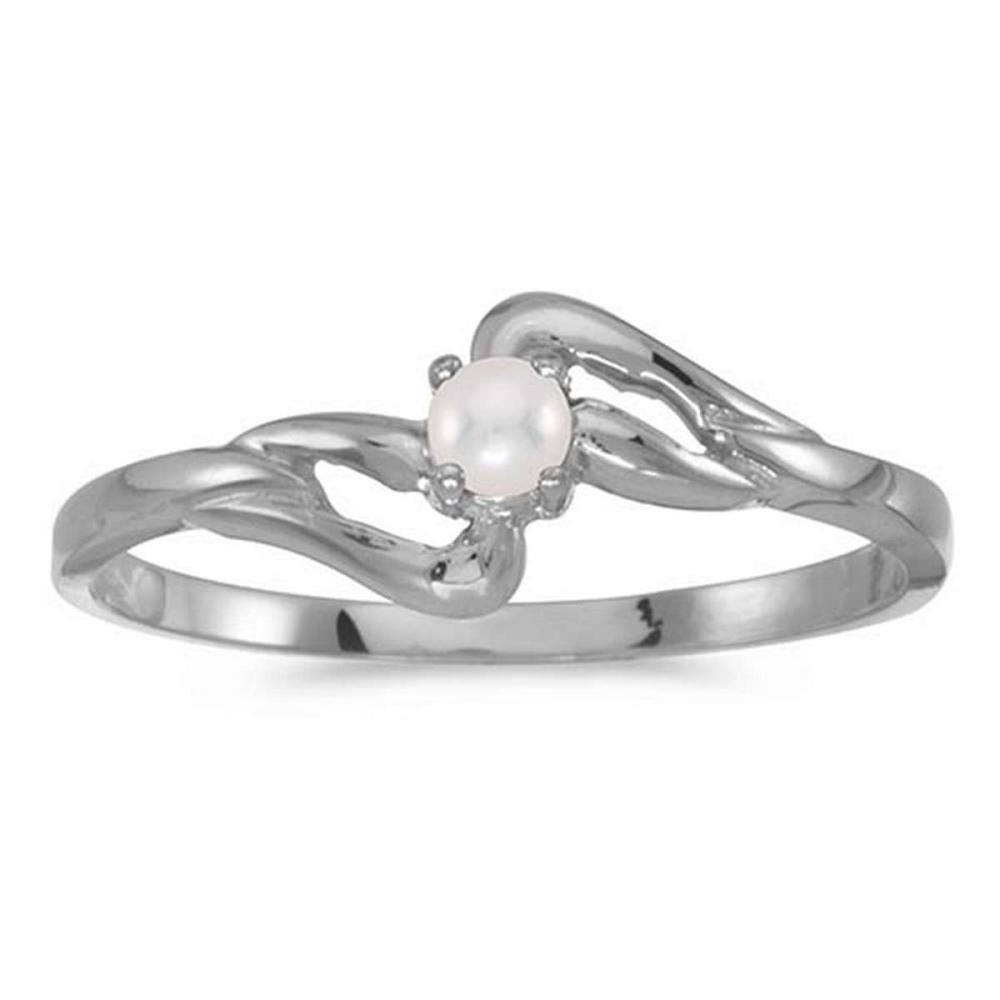 Certified 14k White Gold Pearl Ring #PAPPS50625