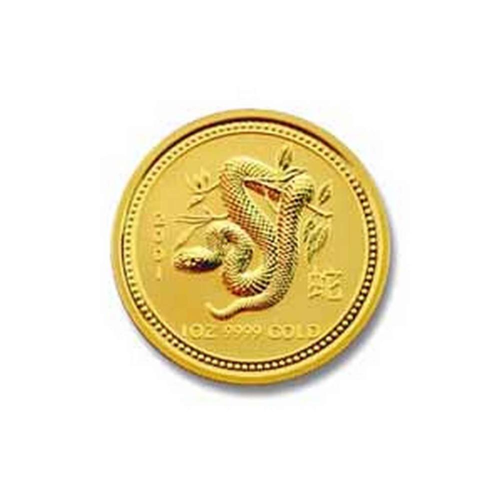 2001 Australia 1/4 oz Gold Lunar Snake #PAPPS78473