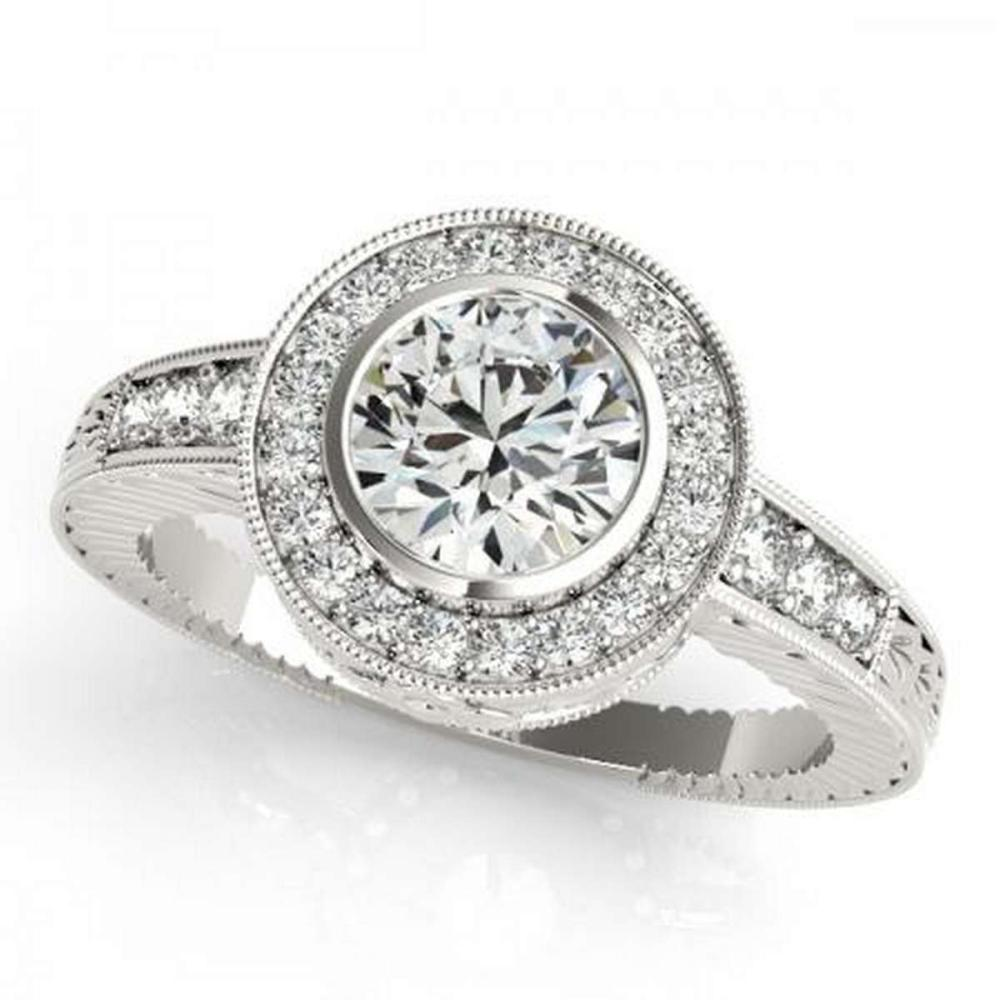 CERTIFIED PLATINUM 1.42 CTW G-H/VS-SI1 DIAMOND HALO ENGAGEMENT RING #PAPPS86215